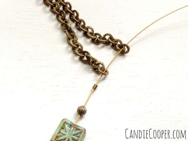 How to connect a beaded section to chain