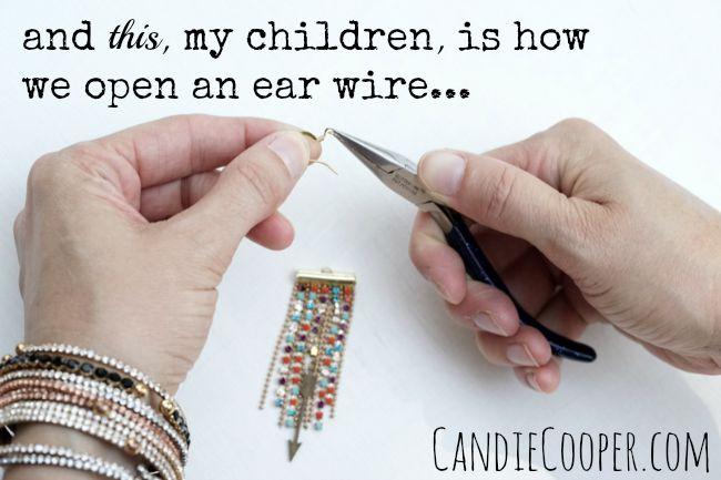 DIY Jewelry Making Fringe Earrings with Beadalon Findings How to open an ear wire