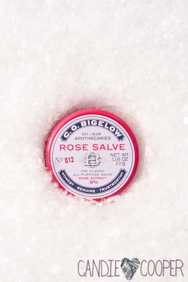 C.O. Bigelow Rose Salve heals dry skin