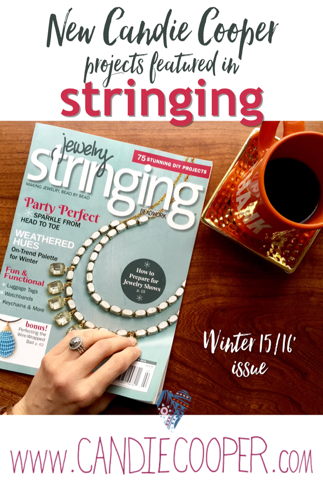 Candie Cooper in winter Stringing jewelry magazine