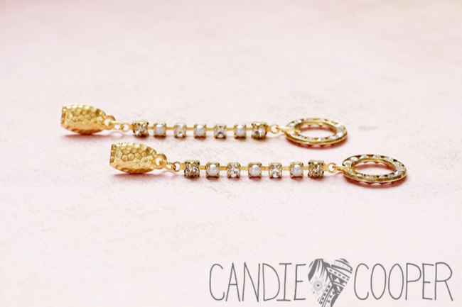 DIY Jewelry how to make these crystal earrings from Candie Cooper12