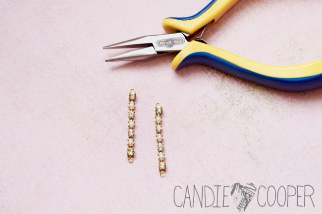 DIY Jewelry how to make these crystal earrings from Candie Cooper4