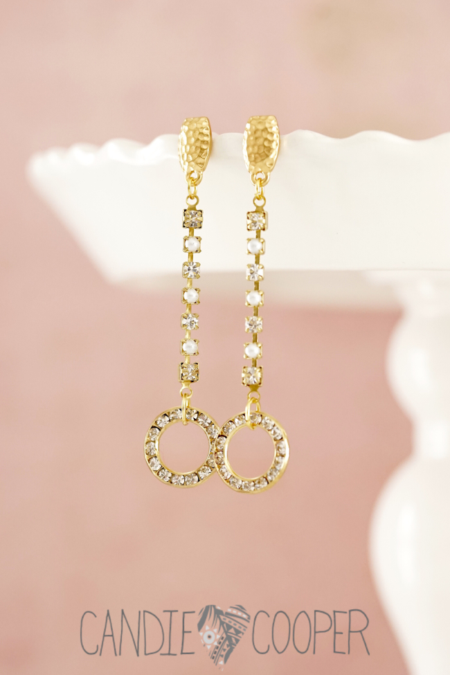 DIY Jewelry how to make these crystal earrings from Candie Cooper9
