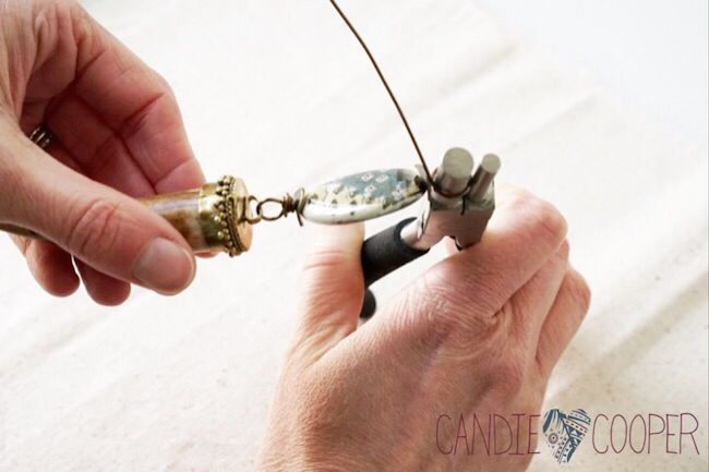 How to make a Wire wrapped bead link