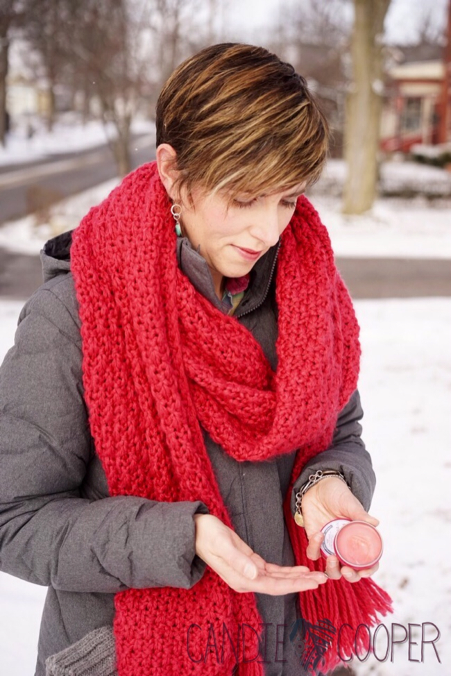 Rose Salve heals dry chapped hands in winter