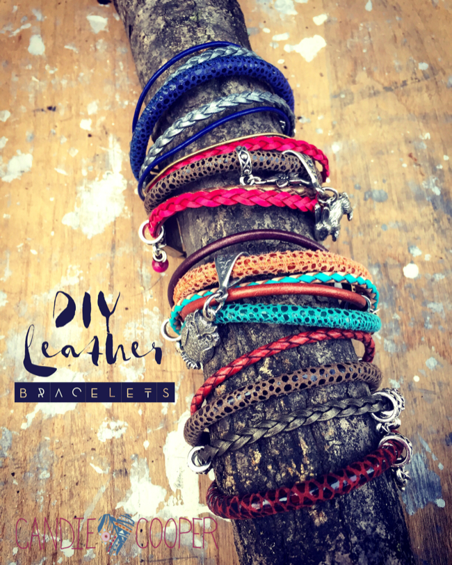 DIY Jewelry with LeatherCord USA: Multi Strand Leather Bracelet Idea with Charms6