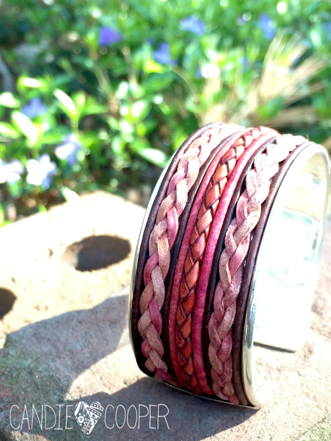 DIY Leather Jewelry Making: How to make a cuff bracelet with inlaid leather on Candie Coopers blog2