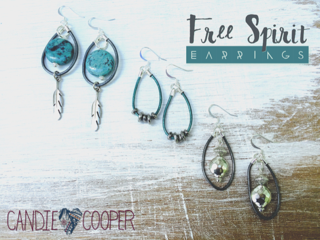 Leather Jewelry Making Free Spirit Leather Earrings with leather from LeatherCordUSA from Candie Cooper14