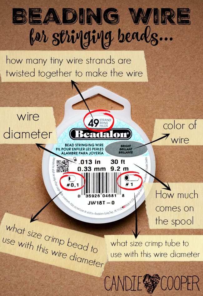 What in the Wire?! Beading wire explained - Candie Cooper