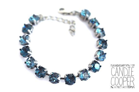 Sparkle Bracelet-Blue Jean Louise