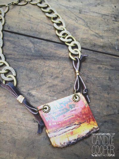 Stone Slab Necklace Pendant