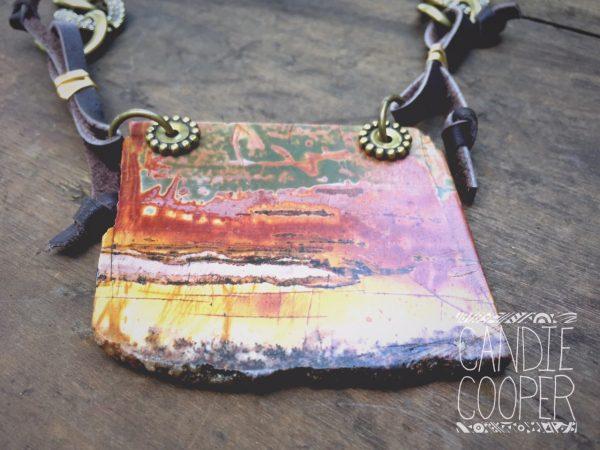 Stone Slab Necklace Pendant connection