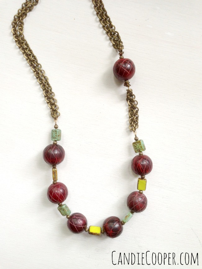 Boho and Bead Necklace from Candie Cooper
