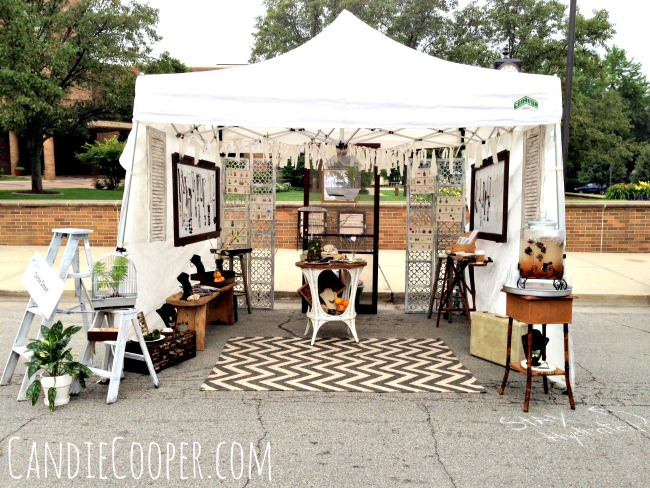 How to set up an art fair tent candie cooper for Display tents for craft fairs