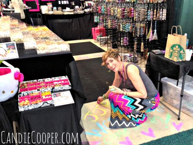 Candie Cooper Chalkin' Up the Jesse James Bead Booth