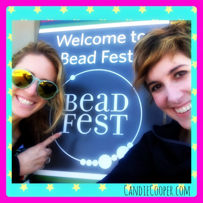 Candie Cooper and Sarah James at Bead Fest