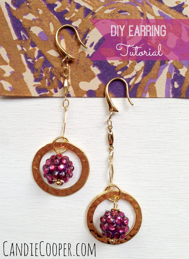 Jewelry Making Berry DIY Earring Tutorial from CandieCooper.com