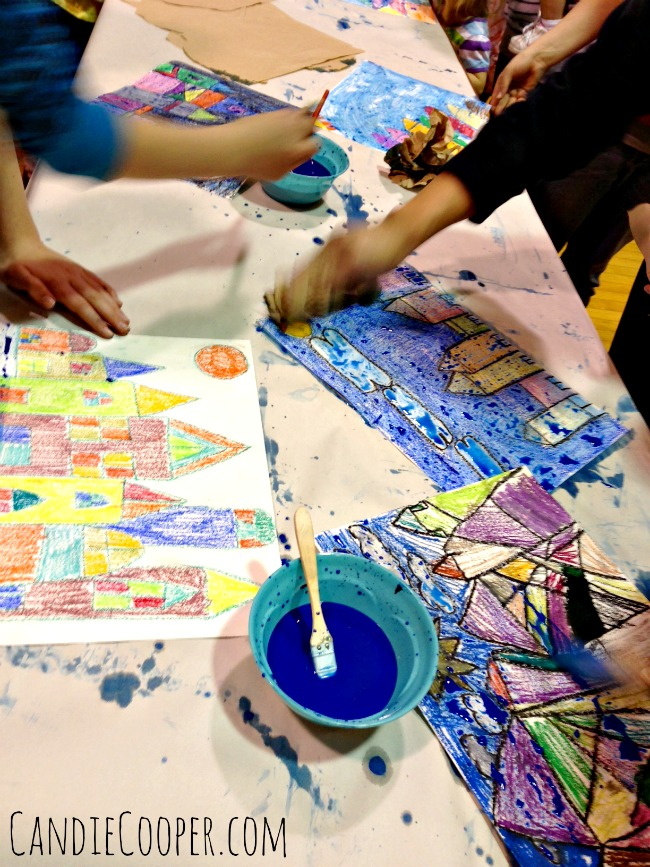 Paul Klee Kids Art Project with Water Color and Sakura Craypas