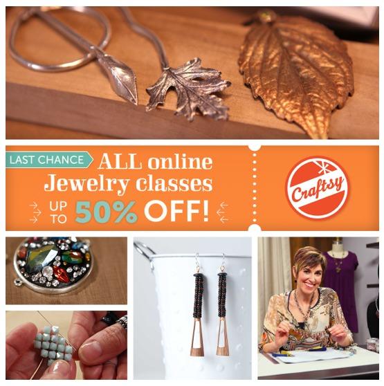 Craftsy Jewelry Classes Sale