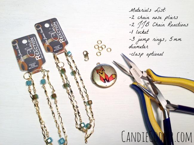 Candie Cooper Fox Locket Materials