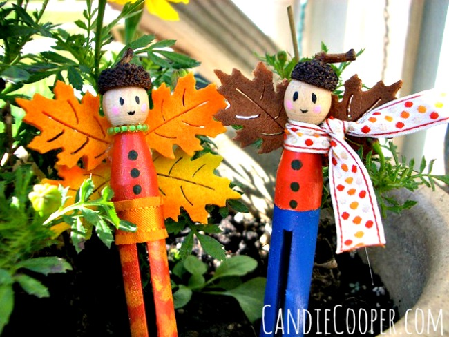 Clothespin Fairy Dolls from Candie Cooper
