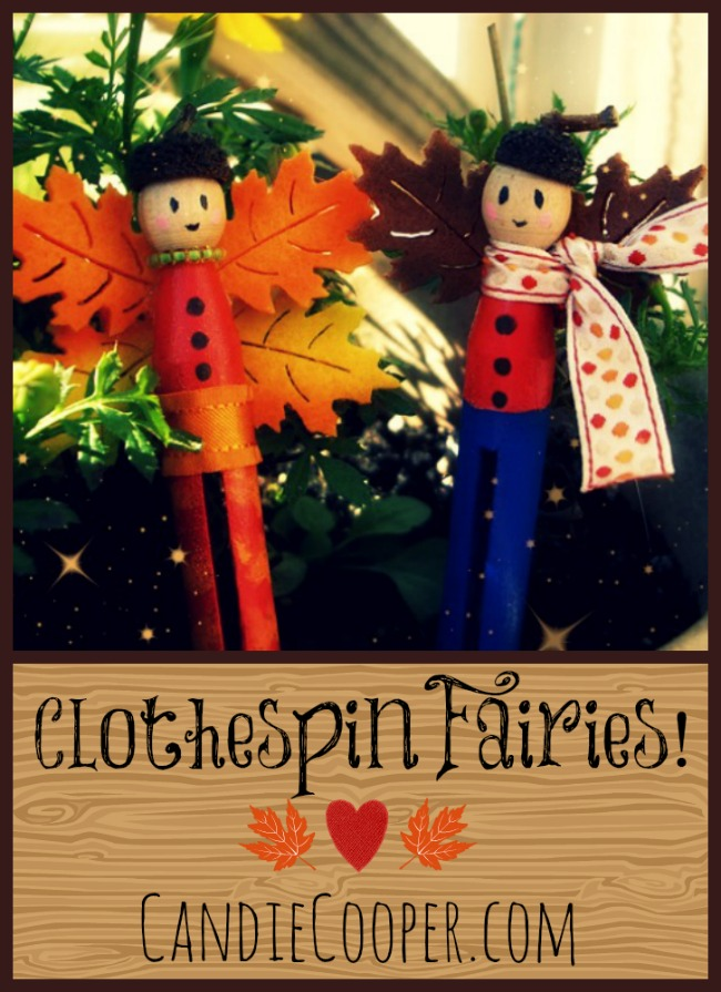 Clothespin Fairy dolls from CandieCooper.com