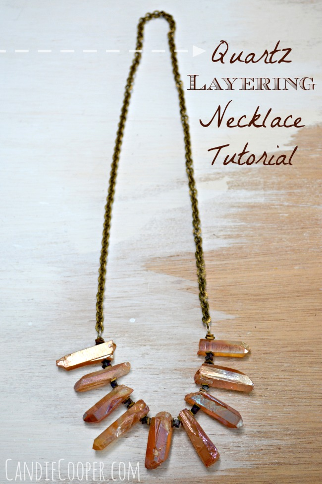 DIY Jewelry Making  Crystal Quartz Layering Necklace from Candie Cooper