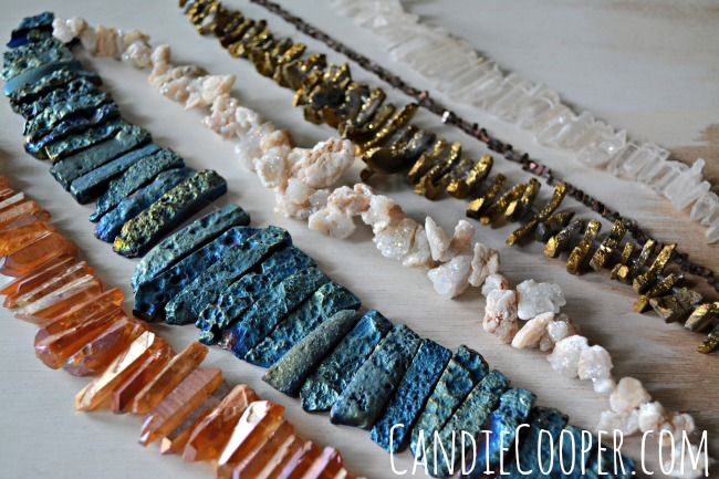 Quartz and Geode Necklace Beads