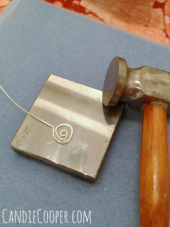 Hammering wire for jewelry making