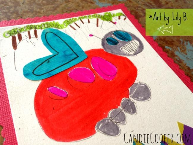 DIY Valentines with children's art