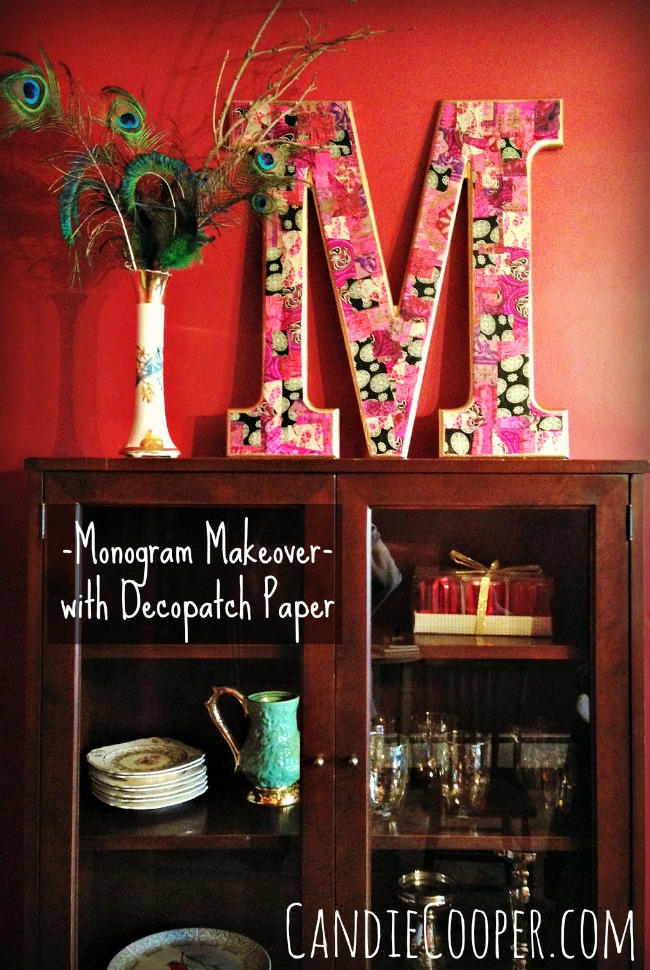 Monogram Makeover with Decopatch Paper