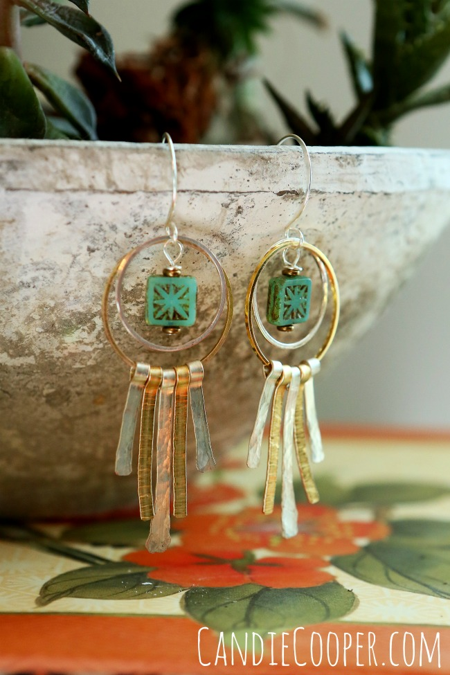DIY Coachella Inspired Earrings from Candie Cooper