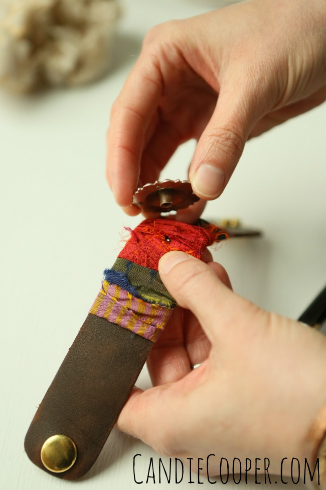 DIY Jewelry Making-  Adding a concho to leather cuff