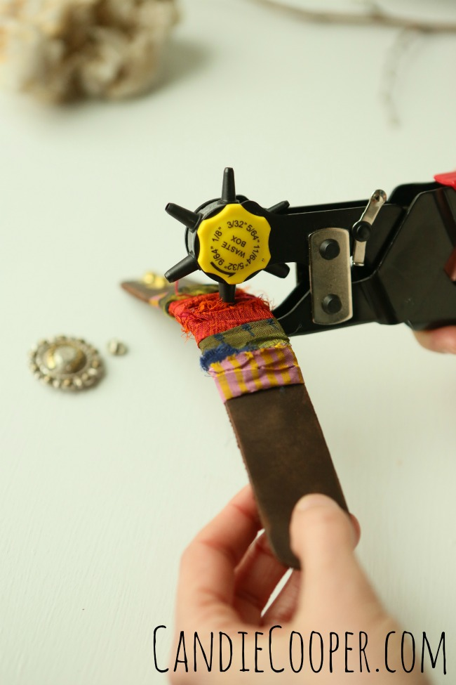 DIY Jewelry Making  How to punch a hole in leather