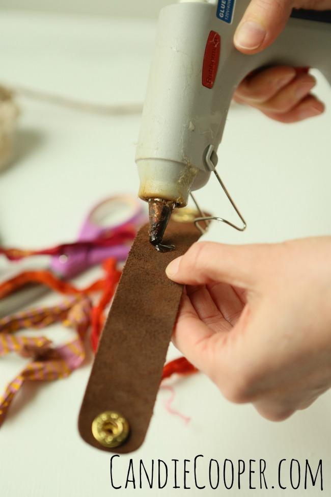 DIY Jewelry Making Sari Wrapped Leather Cuff Bracelet