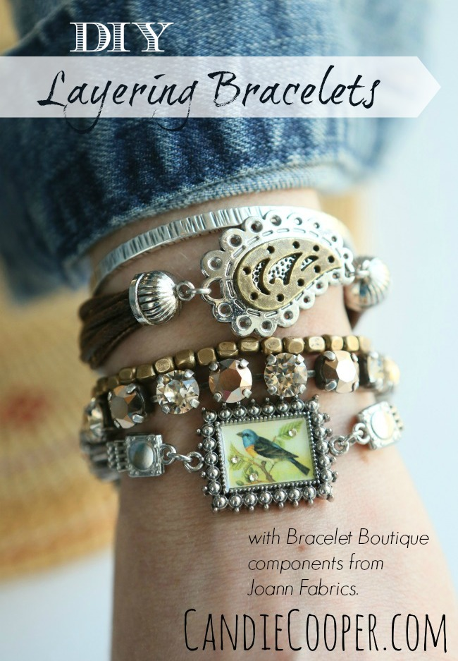DIY Layering Bracelets with Bracelet Boutique components at Joann Fabrics