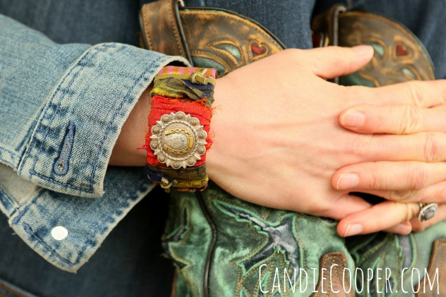 DIY Leather Cuff on @candiecooper