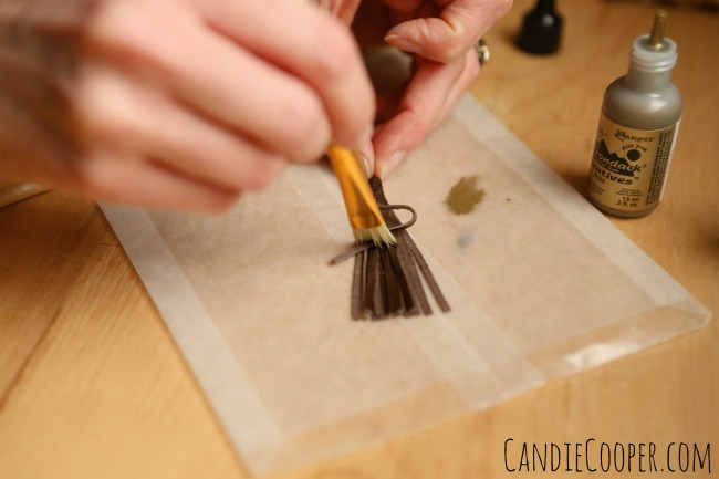 Painting Leather Tassels from CandieCooper.com