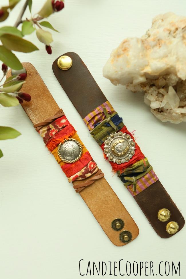 Sari wrapped cuffs