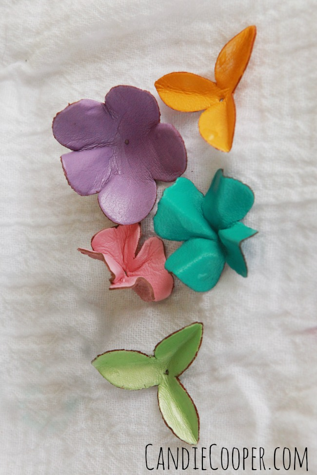 DIY JEWELRY MAKING Forming leather flowers