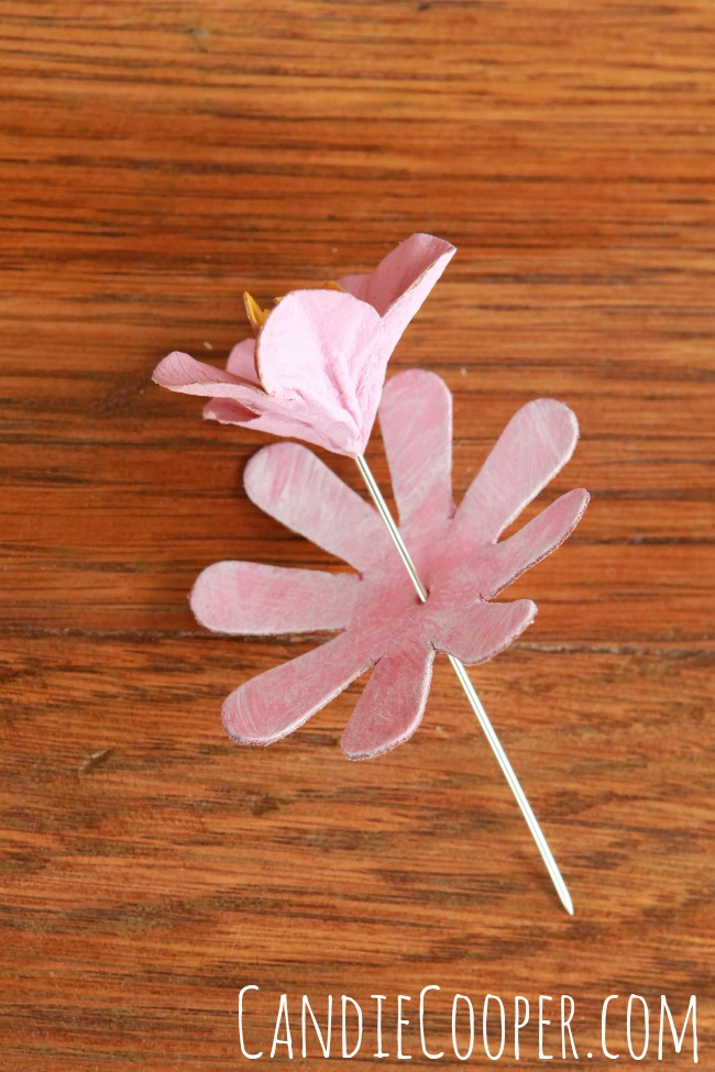 Jewelry Making painted flowers from Leather Cord USA