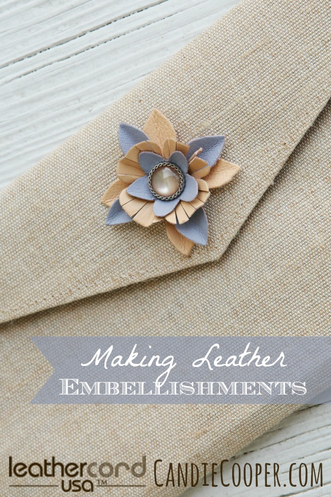 Making Leather Embellishments with LeatherCord USA flowers