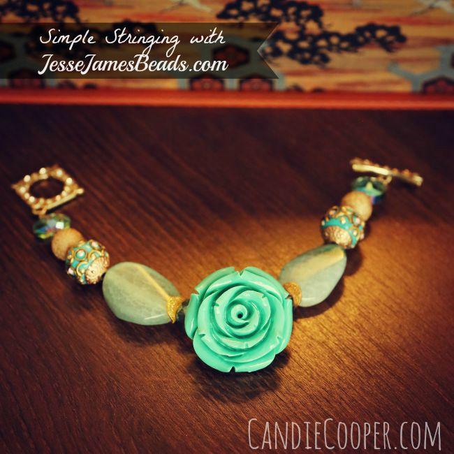 How to string beads for a bracelet using JesseJamesBeads.com