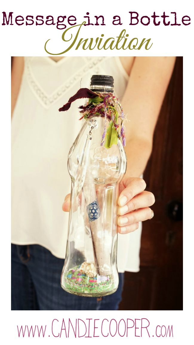 DIY Party Invitation idea Message in a bottle
