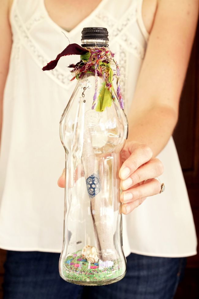 Message in a bottle party invitation idea from Candie Cooper