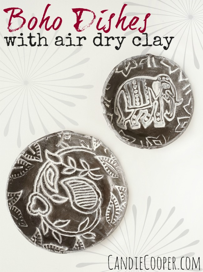 ACTIVA PRODUCTS Boho Dishes with black Plus clay17