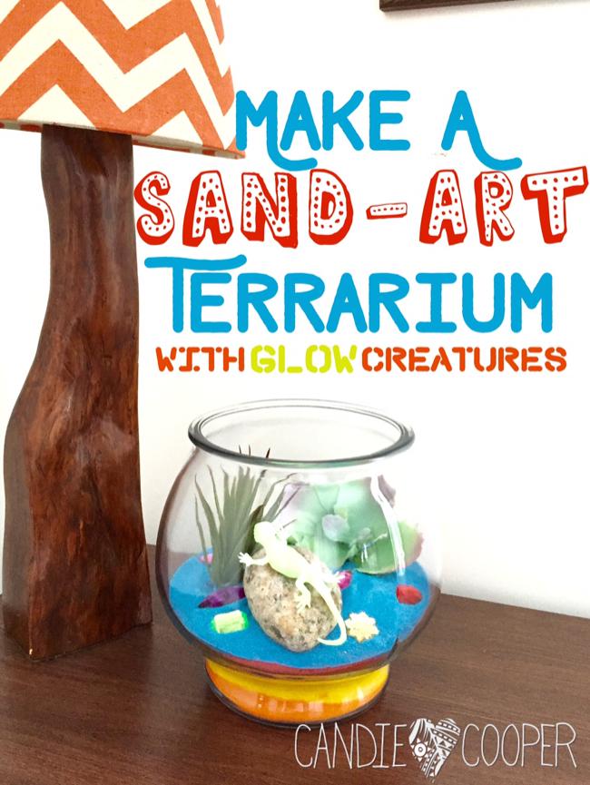 ACTIVA Sand Art Terrarium Kids Craft Idea with glow in the dark creatures21