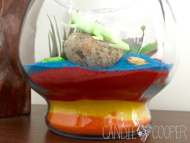 ACTIVA Sand Art Terrarium Kids Craft Idea with glow in the dark creatures7