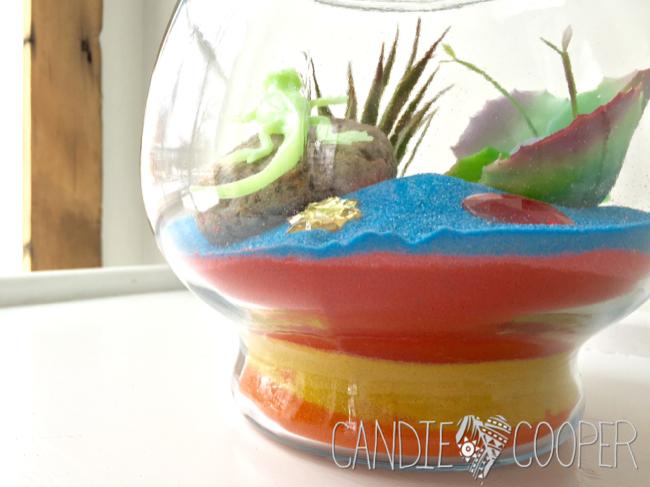 ACTIVA Sand Art Terrarium Kids Craft Idea with glow in the dark creatures9