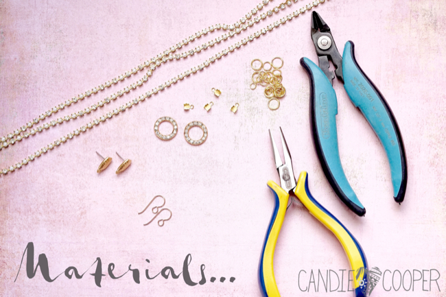 DIY Jewelry how to make these crystal earrings from Candie Cooper1